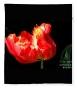 Red Tulip Blurred Fleece Blanket