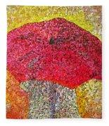 Red Umbrella Fleece Blanket