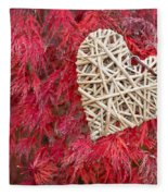 Red Valentine Fleece Blanket