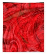 Red Veil Abstract Art Fleece Blanket