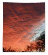 Red Velvet Sky Fleece Blanket