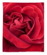 Red Velvety Rose Fleece Blanket