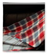 Red White And Blue Quilt  Fleece Blanket