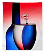 Red White And Blue Reflections And Refractions Fleece Blanket