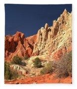 Red White And Blue Sky Fleece Blanket