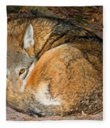 Red Wolf Fleece Blanket