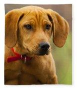 Redbone Coonhound - Man's Best Friend The Hound Dog Fleece Blanket