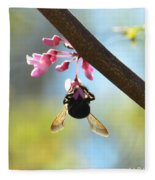 Redbud And The Bumble Fleece Blanket