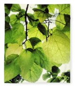 Catalpa Branch Fleece Blanket