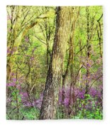 Redbud Cercis Canadensis Trees Fleece Blanket