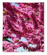 Redbud In Bloom Fleece Blanket