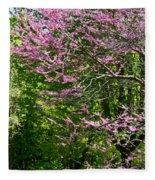 Redbud In The Woods Fleece Blanket