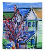 Redbud Tree At West Cape May Fleece Blanket