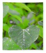 Redbud Water Droplets Fleece Blanket
