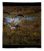 Reddish Egrets Fleece Blanket
