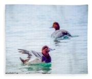 Redhead Ducks Fleece Blanket
