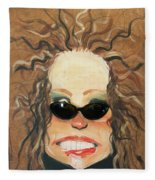 Ginger In Sunglasses Fleece Blanket