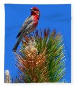 Redheaded Tree Topper Fleece Blanket