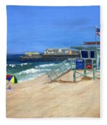 Redondo Beach Lifeguard  Fleece Blanket