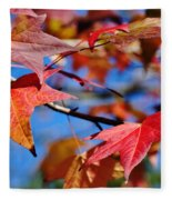 Reds Of Autumn Fleece Blanket