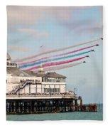 Reds Over Eastbourne Pier Fleece Blanket