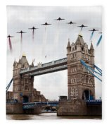 Reds Over Tower Bridge Fleece Blanket