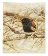 Redwing In The Wind Fleece Blanket