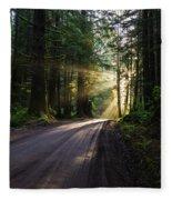 Redwood National Park Morning Fleece Blanket