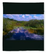 Reflecting In The Glades Fleece Blanket