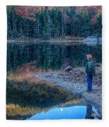 Reflecting On Fall Foliage Reflection Fleece Blanket