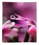 Reflecting On Pink Fleece Blanket