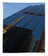 Reflecting On Skyscrapers - Downtown Atmosphere Fleece Blanket
