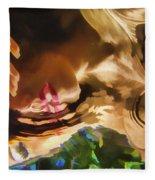 Reflecting On The Surface 1 Fleece Blanket