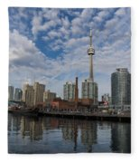 Reflecting On Toronto And Harbourfront  Fleece Blanket