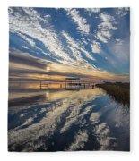 Reflecting Sunset Fleece Blanket