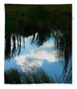 Reflecting The Grass Fleece Blanket