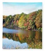 Reflecting Trees Fleece Blanket