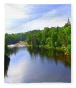 Reflection In Beaupre Quebec Fleece Blanket