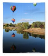 Reflection In Prosser Fleece Blanket