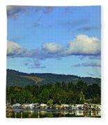 Reflection In The Lake Fleece Blanket
