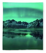 Reflection Of Aurora Borealis Fleece Blanket