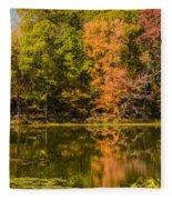 Reflection Of Autumn Fleece Blanket