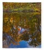 Reflection Of Fall Fleece Blanket