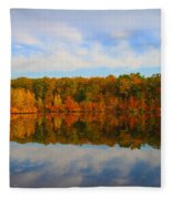 Reflection Of The Fall Fleece Blanket