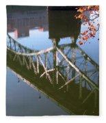 Reflection Of The Gay Street Bridge Fleece Blanket