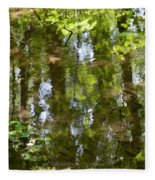 Reflection Of Woods Fleece Blanket