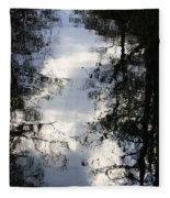 Reflection On Sweet Water Strand Fleece Blanket