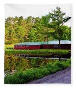 Reflection On The Pond Fleece Blanket