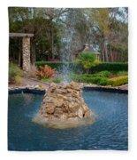 Reflection Pond At Ravine Gardens State Park Fleece Blanket