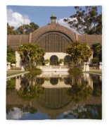 Reflection/lily Pond, Balboa Park, San Diego, California Fleece Blanket